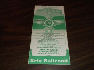 APRIL-1960-ERIE-RAILROAD-FORM-7-MAIN-LINE-NEWARK-BRANCH-PUBLIC-TIMETABLE