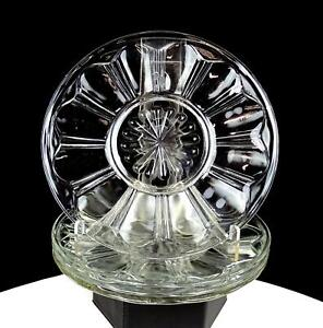 ANCHOR-HOCKING-COLONIAL-RIB-CLEAR-4-PIECE-6-034-BREAD-AND-BUTTER-PLATES-1934-1936