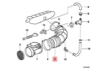 Engine Air Intake Hose Fits 1991-1995 BMW 525i 525iT 2.5L-L6 696-805  furnacerestaurant.co.nzFurnace