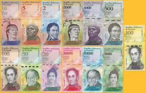 Venezuela-Set-2-100000-Bolivares-Set-of-13-banknotes-UNC