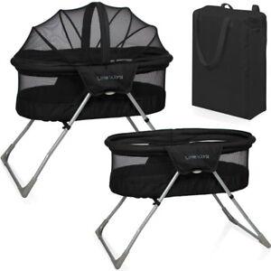 baby kinder reisebett beistellbett babybett snoozer schwarz moskitonetz matratze ebay. Black Bedroom Furniture Sets. Home Design Ideas