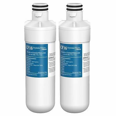 2 Refrigerator Water Filters Fit LG LT1000P LT1000PCS ADQ747935 MDJ64844601 Fix