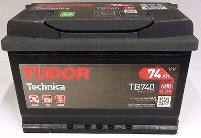 TB740 - BATTERIA AUTO TUDOR EVOLUTION TECHNICA 74 AH 680 A