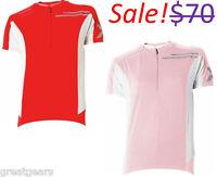 2XU Elite Women Large Road Mountain Bike Cycling Short Sleeve Red Pink Jersey