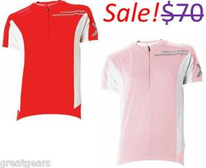 2XU-Elite-Women-Large-Road-Mountain-Bike-Cycling-Short-Sleeve-Red-Pink-Jersey
