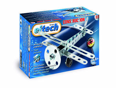 Eitech Meccano Metal Jeu de Construction Basic Avion Biplan Children Noël Enfant