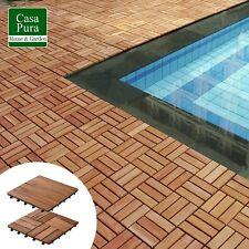 11Pack Indoor Outdoor Interlocking Patio Tiles Wood Deck Flooring 12X12  Check