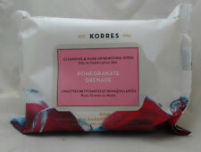 Korres Pomegranate Cleansing & Make-up Removing Wipes - Lot of 2 x 25 Counts