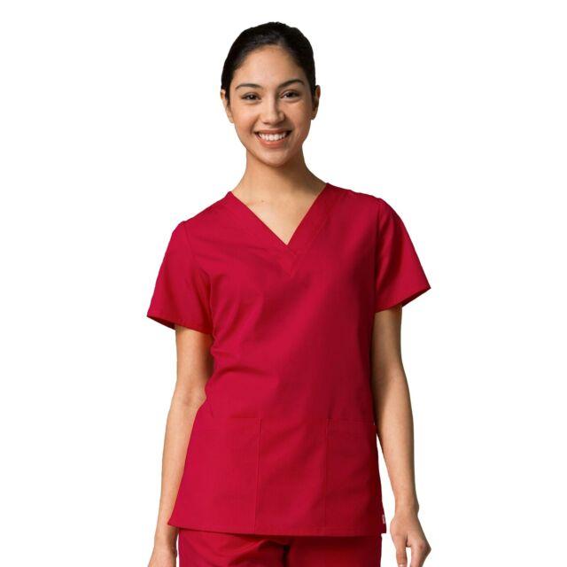 Maevn Scrubs Set RED PANDA Women/'s V-Neck Top /& Half Elastic Pant 1716//9716