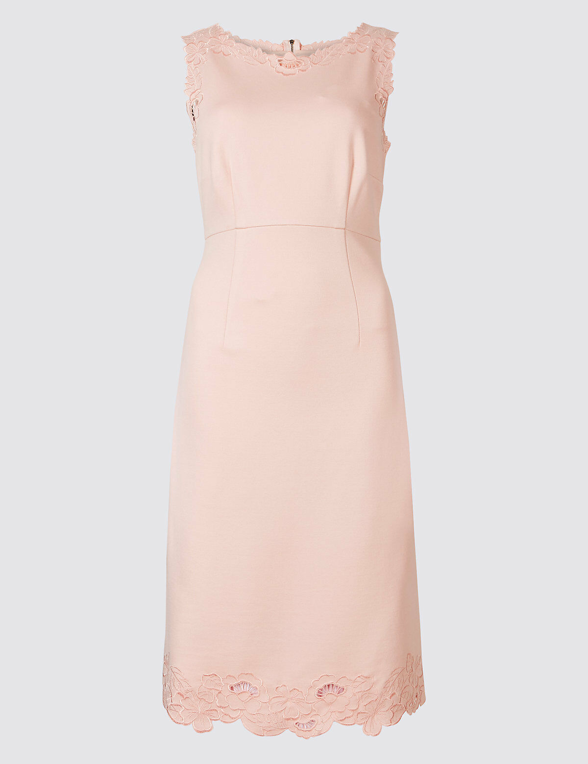 MARKS AND SPENCER EMBROIDERED JERSEY SHIFT DRESS SIZE 20 RRP