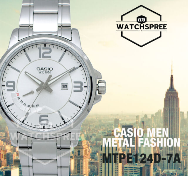 Casio Men's Analog Watch MTPE124D-7A MTP-E124D-7A
