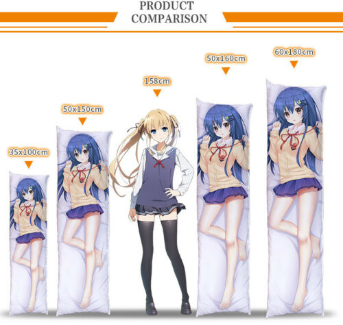 Anime DATE A LIVE Pillow Case Cover Otaku Dakimakura Tokisaki Kurumi Nightmare