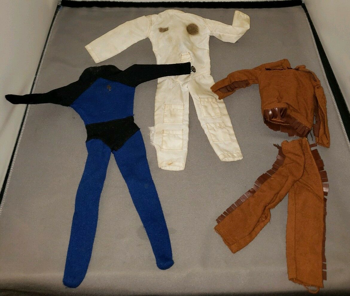 3 VINTAGE CAPTAIN ACTION OUTFITS BY IDEAL 1966