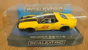 SCALEXTRIC-C3921-AMC-Javelin-1971-Trans-America-No-68-NEW