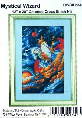 """Design Works MYSTICAL WIZARD 2346 COUNTED CROSS STITCH KIT 12/"""" X 20/"""""""