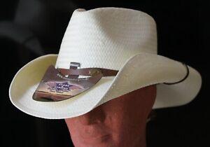 Stars & Réparti Western-chapeau De Cowboy Chapeau De Paille Bandit, Couleur Blanc, Taille S & Xl-afficher Le Titre D'origine
