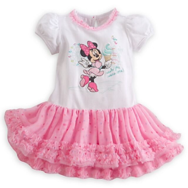 eae0a89af021 Disney Minnie Mouse Frilly Tutu Dress Baby 9 12 Mos Ruffled Tulle ...