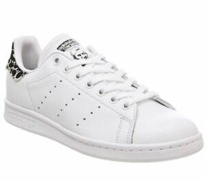 Details zu Womens Adidas Stan Smith Trainers Off White Core Black Shock Pink Animal Exclusi