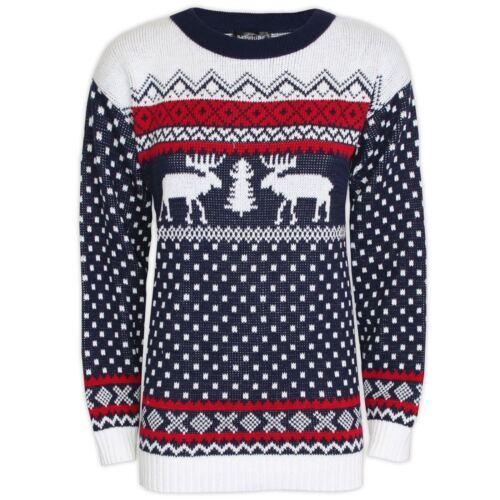 Neuf Hommes Vintage Noël Tricot Marrant Pull Pour Dames Nouveauté UrXUS