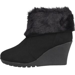 Wedge 7 01 Fluid Uk 41 Ankle Boots Black Ln181 Am Eu Womens 5UUBnF