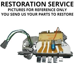 RESTORATION SERVICE1960-76 A-Body Mopar Heater A//C ControlsFull Rebuild