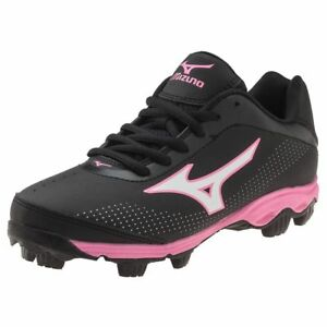 4feaf0859bec Mizuno Girls' Softball Cleats Low Black Pink Youth Finch Franchise 5 ...