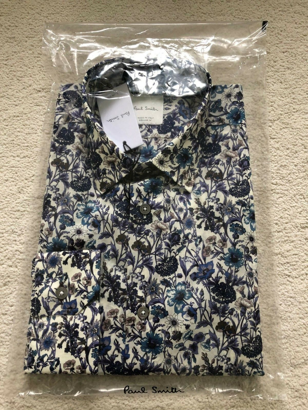Paul Smith Long Sleeve Formal Slim fit Shirt  Floral design - RRP £185