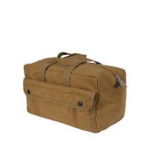 Coyote Brown Canvas Mechanics Shop G.I. Type Medic Tool Utility Duffle Bag Box