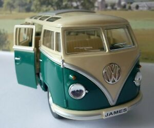 Image Is Loading PERSONALISED PLATE Gift Green VW Camper Van Bus