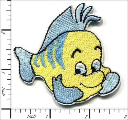 Flounder Patch The Little Mermaid Embroidered Iron On Applique Disney World fish