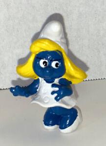 20034 Smurfette Classic White Dress Vintage Smurf Figure PVC Toy 2-inch Figurine