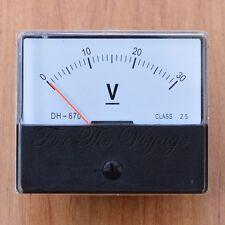 Voltmeter 0 - 30V DC ANALOGICA Pannello Voltmetro analogico NUOVO