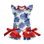 NEW Boutique Baby Girls Floral 4th of July Ruffle Romper Jumpsuit