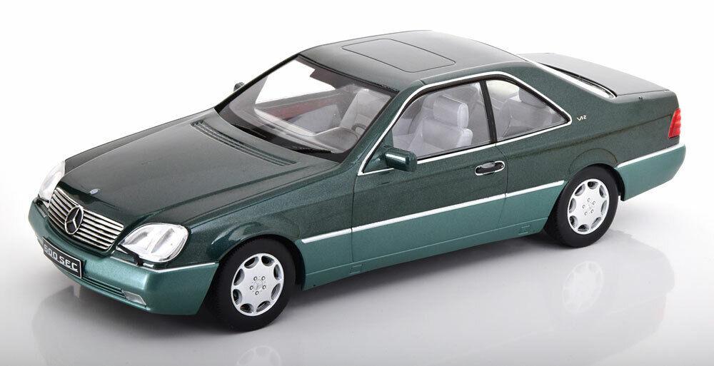 KK SCALE MODELS 1992 Mercedes Benz 600 SEC C140 Grün Met. LE of 750 1 18 New