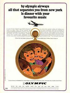 1967-Original-Advertising-039-Vintage-Olympic-Airways-Airlines-Music