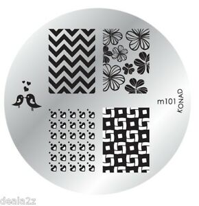 Image Is Loading M101 Konad Stamping Nail Art Plate Design