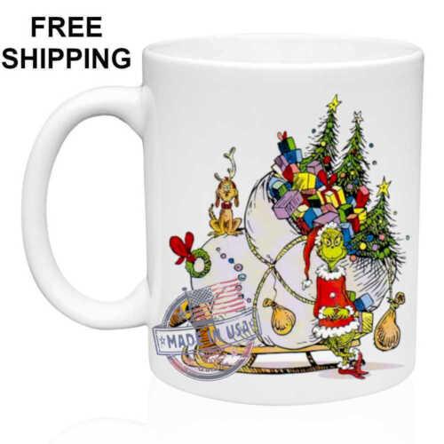 Coffee//Tea Birthday White Mug 11 oz The Grinch Christmas Gift