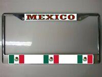 Mexico Flag Photo License Plate Frame