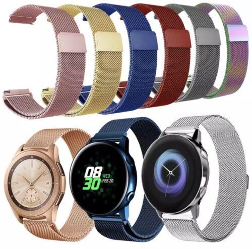 ✅ para Samsung huawei amazfit metal imán pulsera loop 20mm 22mm Milanese ✅