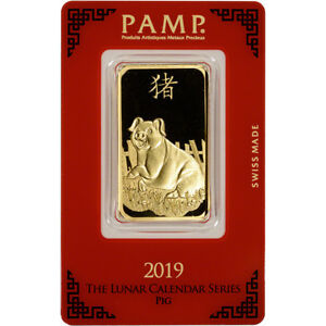 1-oz-Gold-Bar-PAMP-Suisse-Lunar-Year-of-the-Pig-999-9-Fine-in-Assay