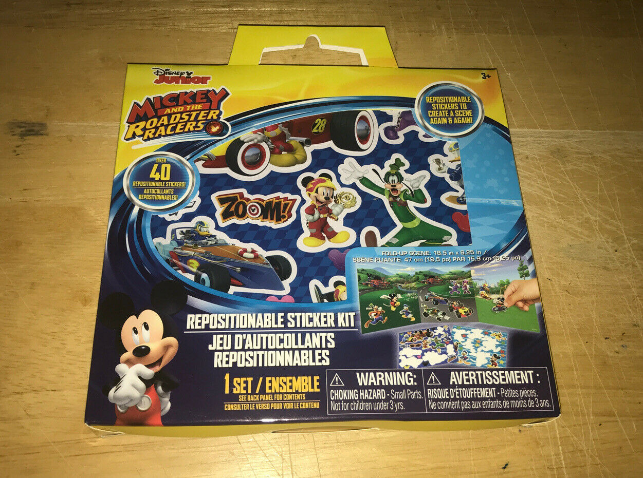 Disney Junior Mickey and the Roadster Racers Repositionable Sticker Kit