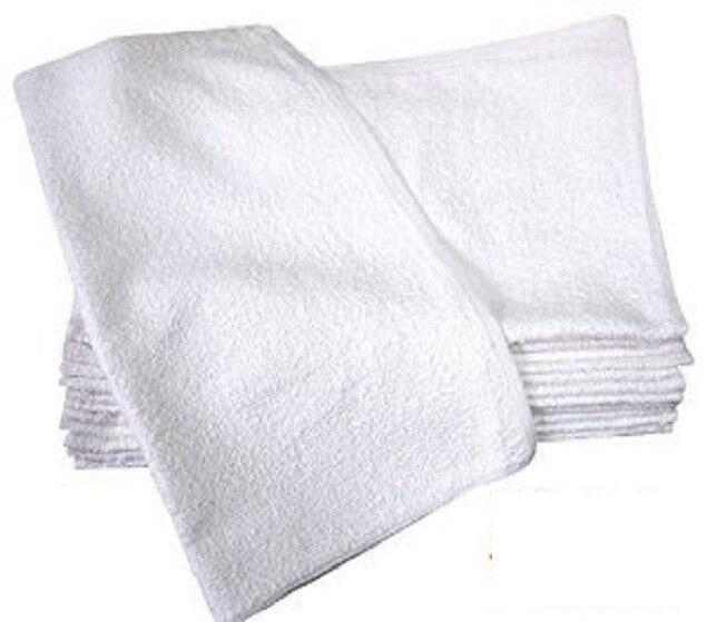 24 Pack Cotton White Terry Towel Restaurant Bar Mops Premium Kitchen Towels 32oz