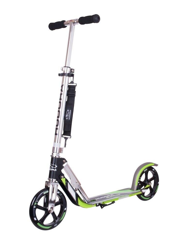 Hudora City Scooter Big Wheel 205 GS Kinder Cityroller grün/silber 14695/02