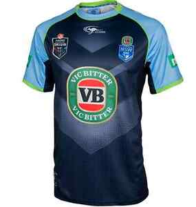 New-South-Wales-NSW-Blues-State-Of-Origin-Players-Training-T-Shirt-Size-S-L-6