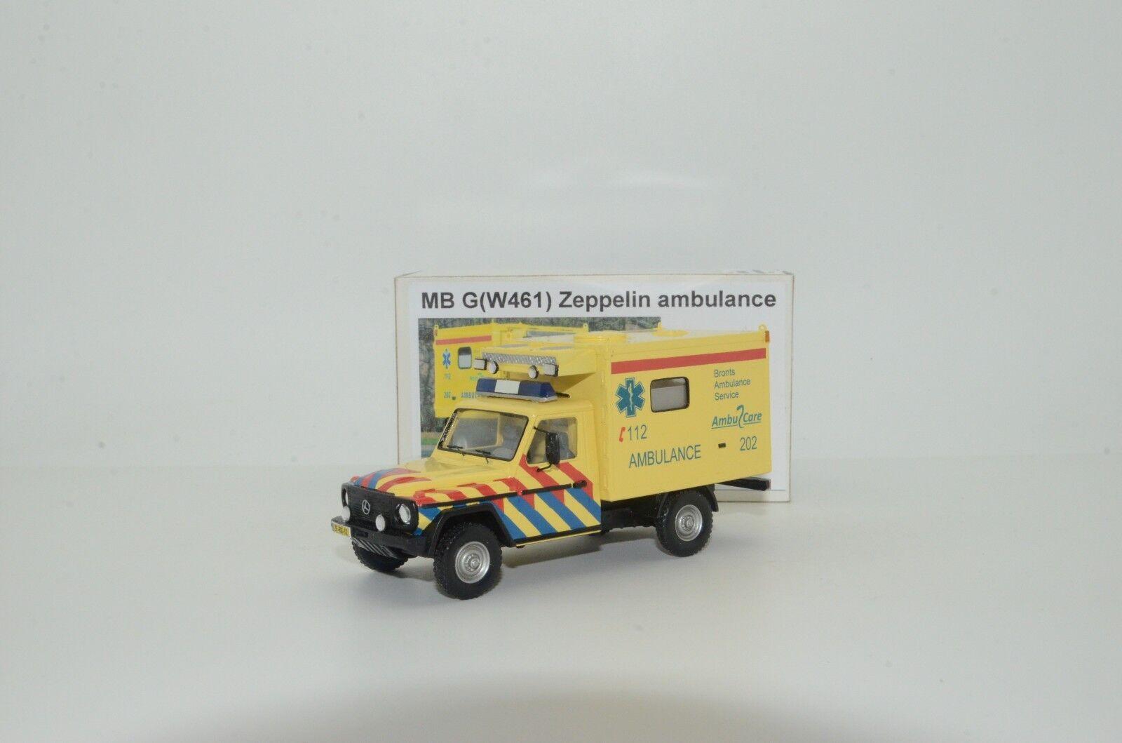 RARE  Mercedes G Class W461 Zeppelin Ambulance Vector Models Hand Made 1/43