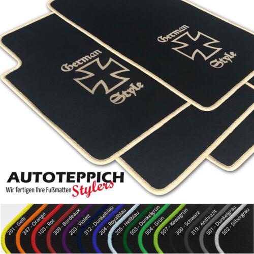 Fußmatten German Style vers Farben für Opel Corsa E ab Bj 2014