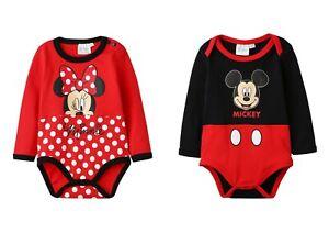 8d9c6630a85fb Details about Disney Minnie Mickey Baby Girls Boys BodySuit Rompers  BabyGrow Newborn-24 months