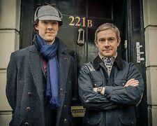 Sherlock and Watson 221B Benedict Cumberbatch 10x8 Photo
