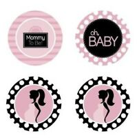 Baby Shower Pink Polka Dots Edible Cupcake Toppers Decoration