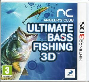ULTIMATE-BASS-FISHING-3D-Angler-039-s-Club-GAME-Nintendo-3DS-MINT-1st-Class-Del